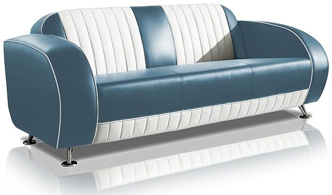 Sofa Dinersofa Retro Style Couch Lounge Designer Sofa Wartemobel