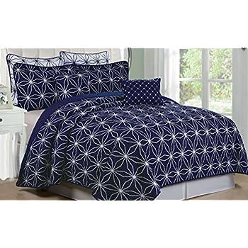 Amazon Com Serenta 7 Piece Printed Microfiber Bedspread