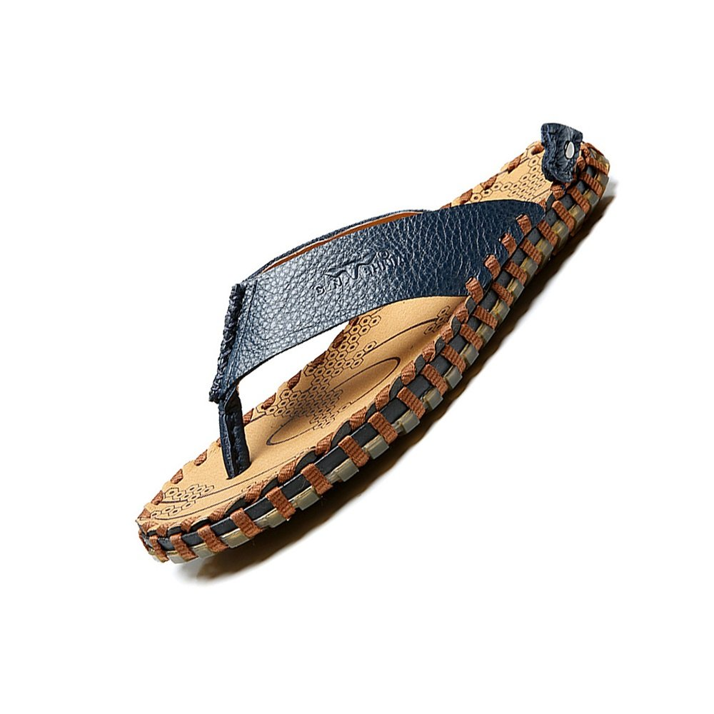 YQQ Zapatillas Zapatos De Playa Zapatos Casuales Sandalias De Hombre Zapatos Masculinos Zapatos De Vacaciones Verano Acogedor Respirable Antideslizante Juventud EU41/UK7.5-8 Azul