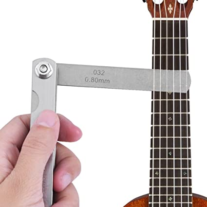 Calibre de Cuerda de Guitarra,30Pcs Guitarra Cuerda Acción Regla Acero Inoxidable Guitar String Action