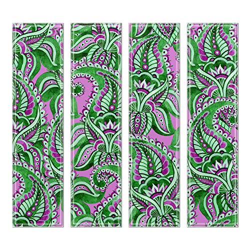 "Upscale Designs 5420102 Custom 3""x12"" Crystal Beveled Glass Wall Tile, Set of 32, Multi-Color"