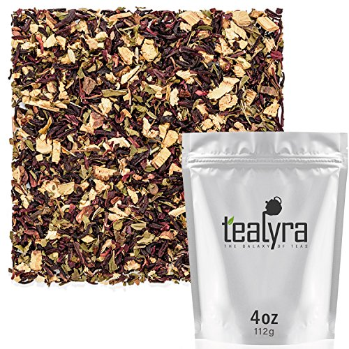 Tealyra - Flat Belly Detox - Fennel - Peppermint - Hibiscus - Wellness Herbal Loose Leaf Tea - Cleanse Tea - Caffeine Free - All Natural - 112g (4-ounce)