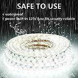 GuoTonG 50ft LED Light Strip kit,Waterproof, 6000K