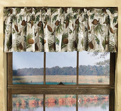 Black Forest Decor Walk in the Woods Lodge Valance Black Forest Wood Products