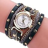 Reloj de Moda para Mujer, Scpink Exclusivo y Elegante Reloj de Cuarzo de Lujo con Brazalete de Diamantes de Imitación…