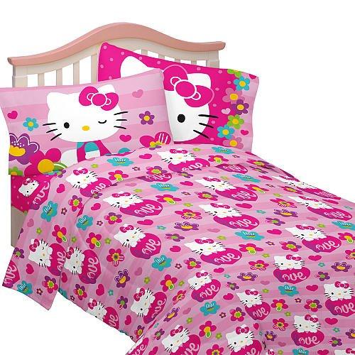 Hello Kitty juego de sábanas doble jardín de amor