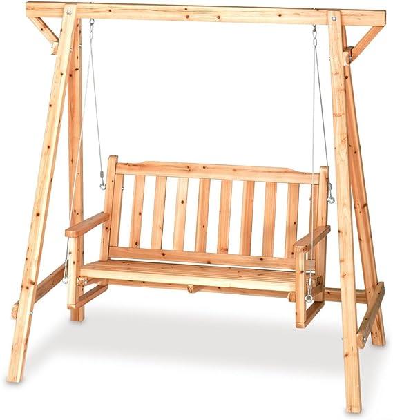 Al aire libre russian-pine madera Swing [cocina]: Amazon.es: Jardín