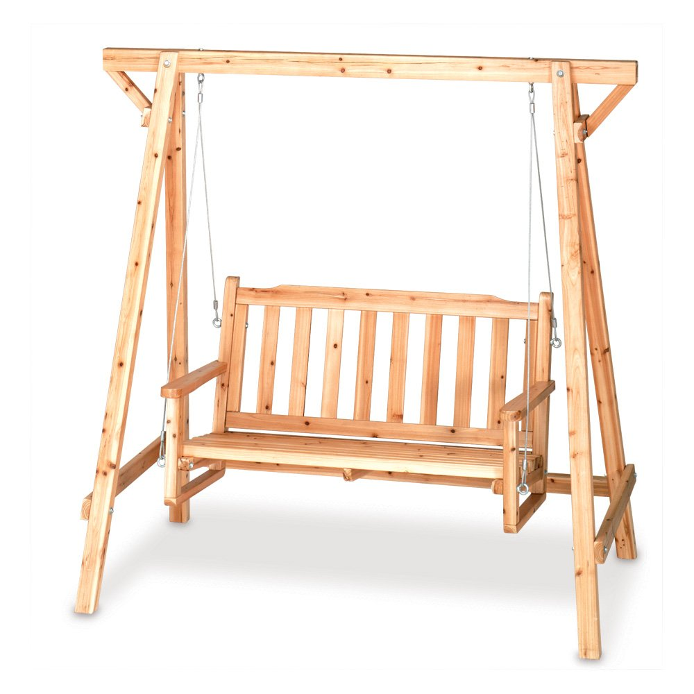 Amazon.com : Weatherproof Wood Home Patio Garden Decor Bench Swing : Porch  Swings : Garden U0026 Outdoor