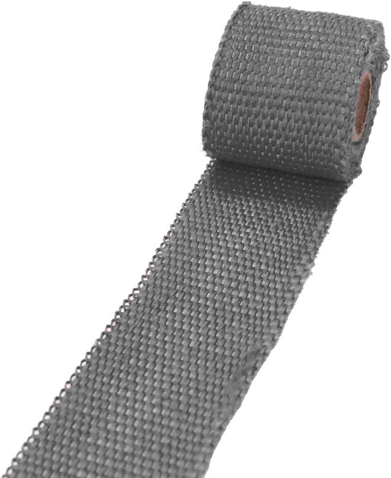 Tickas Exhaust Heat Wrap Roll Heat Insulated Wrap Turbo Intake Manifold Heat Wrap Practical Heat Shield Tape Motorcycle Car Fiberglass Heat Shield Tape 1m