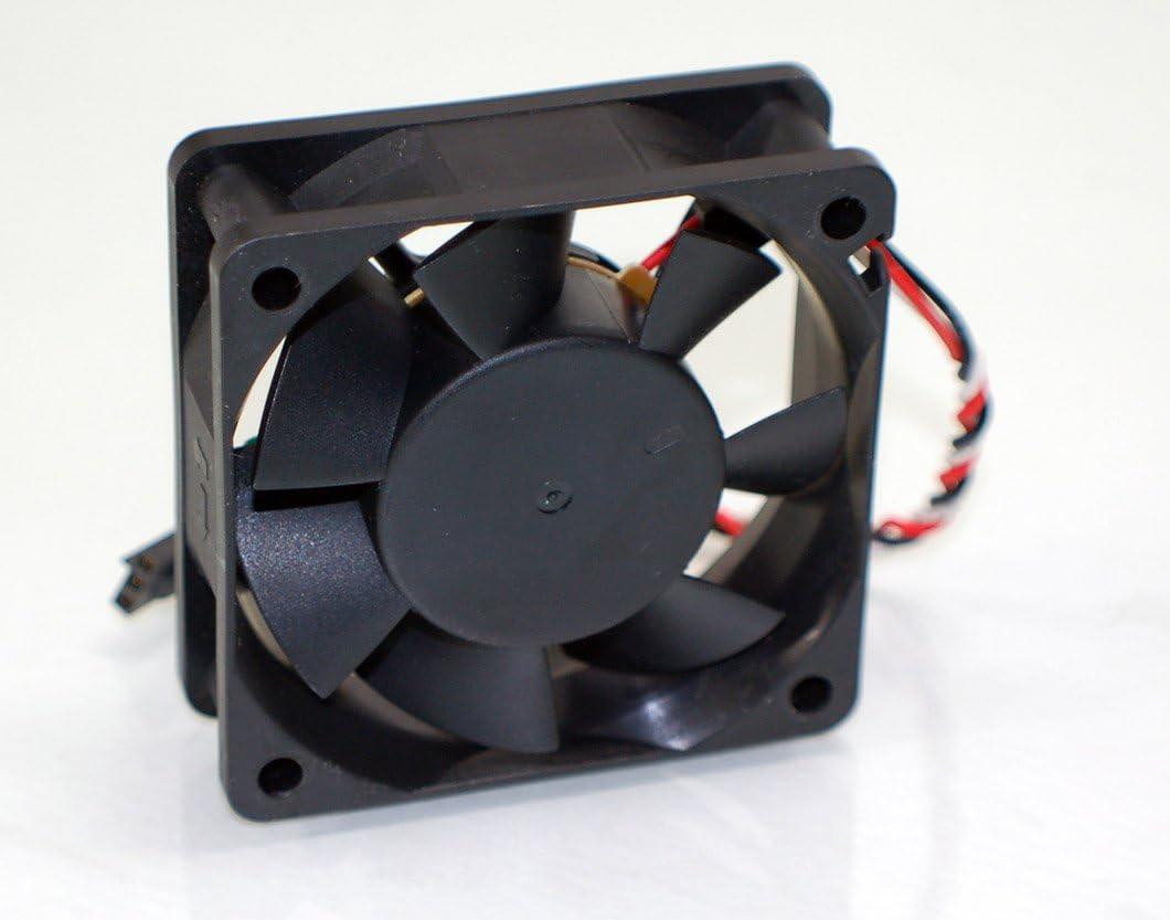Aquamoon Trading 6H838 Genuine OEM Dell Optiplex GX50 GX150 Brushless 0620-12HBTL-1 0.50A CPU Cooling Fan 12V 60mm 2408NL-04W-B46 Black w//3-Pin Red//Black//White Cable Assembly