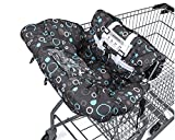 Premium Shopping Cart Cover & High Chair Cover, Easy Install, Harness System, Soft Comfort Cushioning, Universal Size, Protects Against Germs