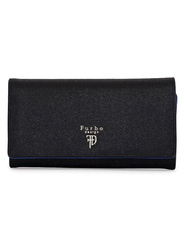 [フルボデザイン] 長財布 ミラノ メンズ FRB107 B06XZXTBQ3 ブラック/ブルー