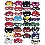 KetaKids Superheroes Party Masks. 30 Pieces Superhero Masks for Children Aged 3+