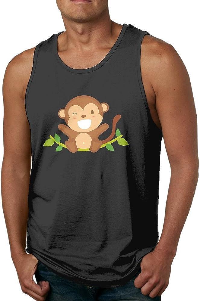 Mens Tank Tops Gym Vests Shirt Funny Monkey Bodybuilding Workout Vest
