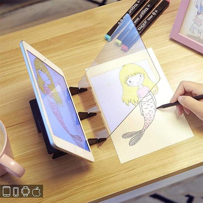 YMJJ Tablero de Dibujo óptico, Sketch Wizard, Almohadilla de Copia ...