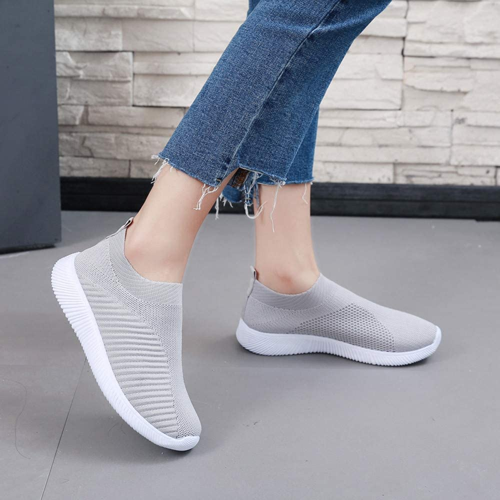 Hessimy Womens Running Shoes Lightweight Comfortable Mesh Sports Shoes Casual Slip On Walking Athletic Sneakers