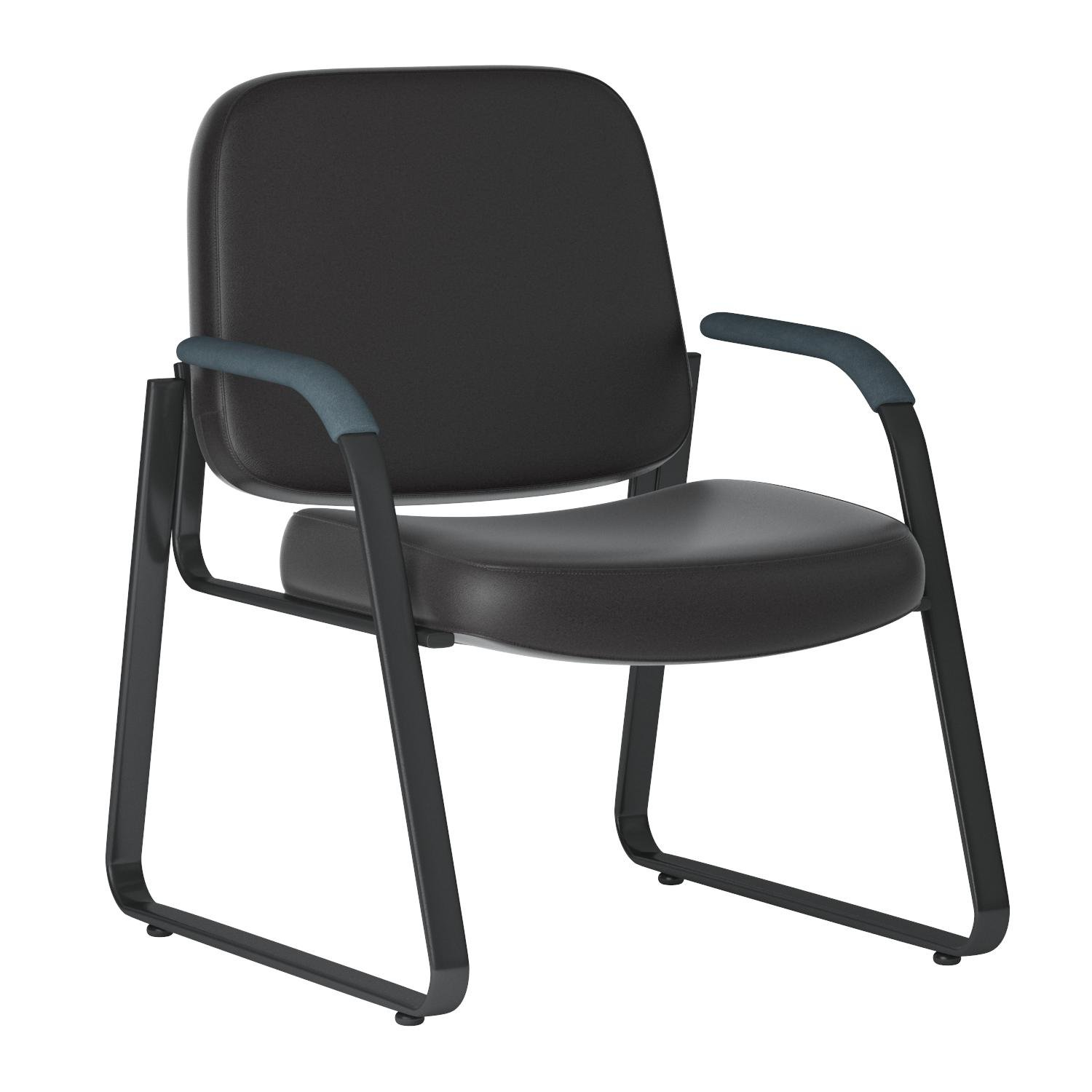 OFM Model 403-VAM Guest and Reception Chair with Arms, Anti-Microbial/Anti-Bacterial Vinyl, Black by OFM (Image #5)