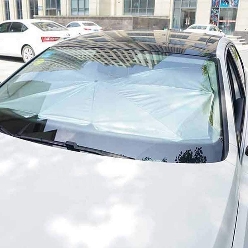 65 x 125 cm TZJ Pare-Brise Pare-Soleil Protection UV Accessoires durables Isolation Thermique d/ét/é Multifonctionnel Pare-Soleil ext/érieur Parapluie Pliable Voiture Avant Stable Ext/érieur Universel