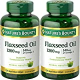 Nature's Bounty Natural Cold Pressed Flaxseed Oil, 1200mg, 250 Softgels (2 x 125 Count Bottles) Review