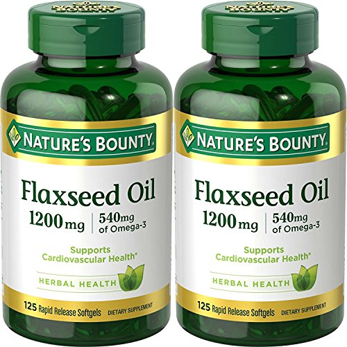 Natures Bounty Natural Flaxseed Softgels