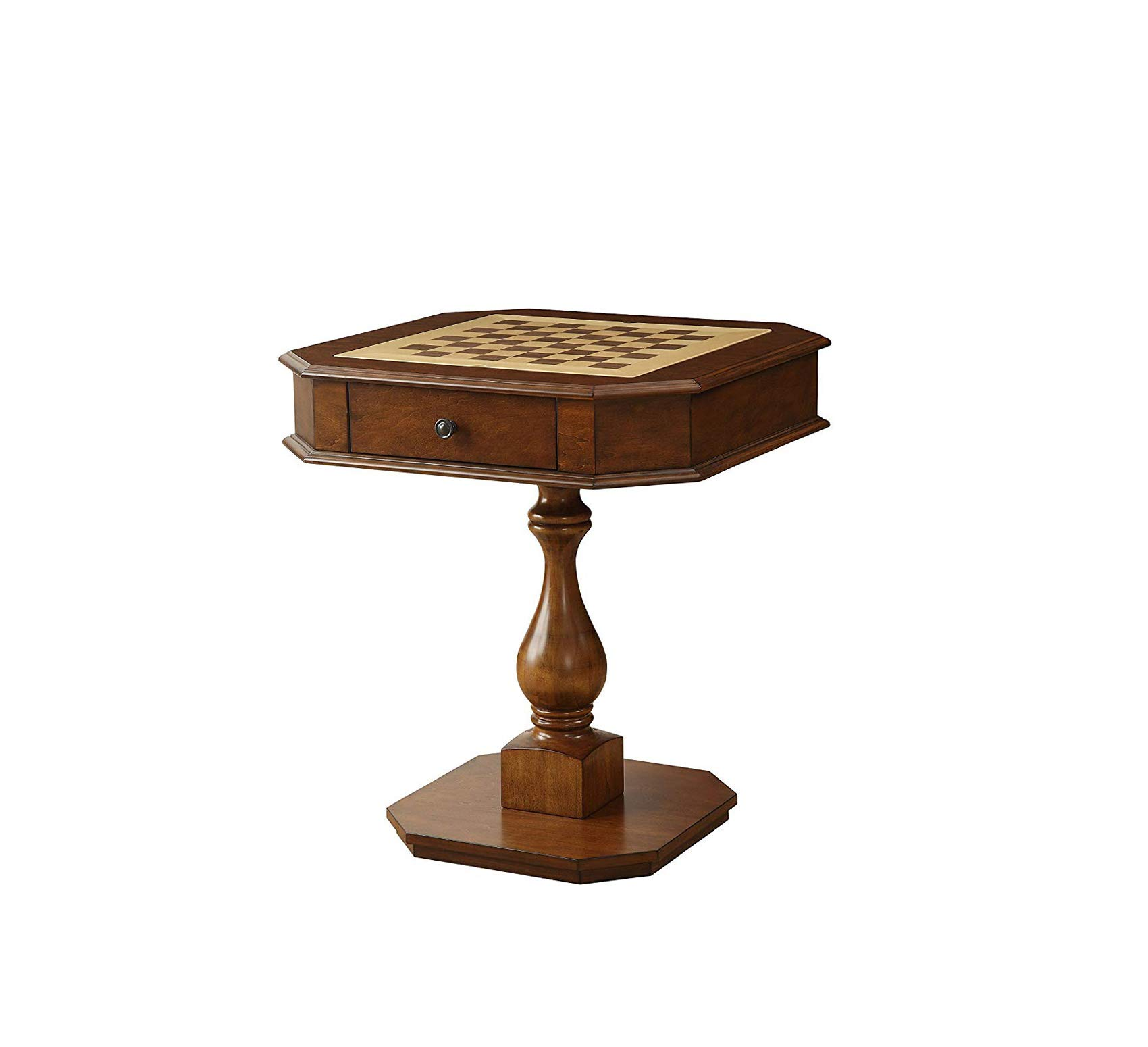 Wood & Style Home Bishop Game Table, Cherry, One Size Office Décor Studio Living Heavy Duty Commercial Bar Café Restaurant by Wood & Style