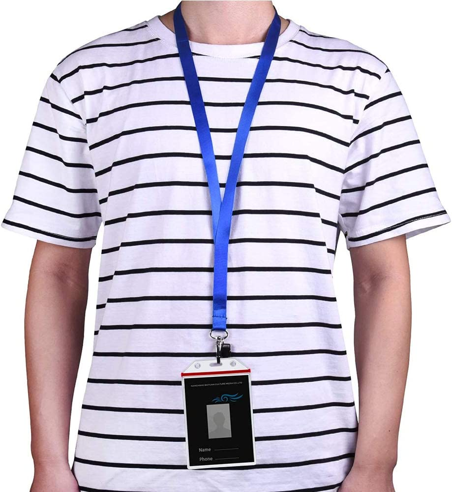 10 Colori con 10 Corde 10 pezzi Cordino da collo in Nylon per Portachiavi Uomo Donna Porta Carte di Nome Ufficio Tag e Chiavetta USB Cordino in Nylon per Collo