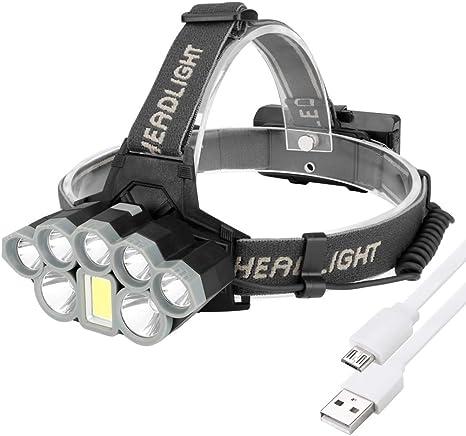 HULYZLB Linterna Frontal LED Recargable De Trabajo, Linterna ...