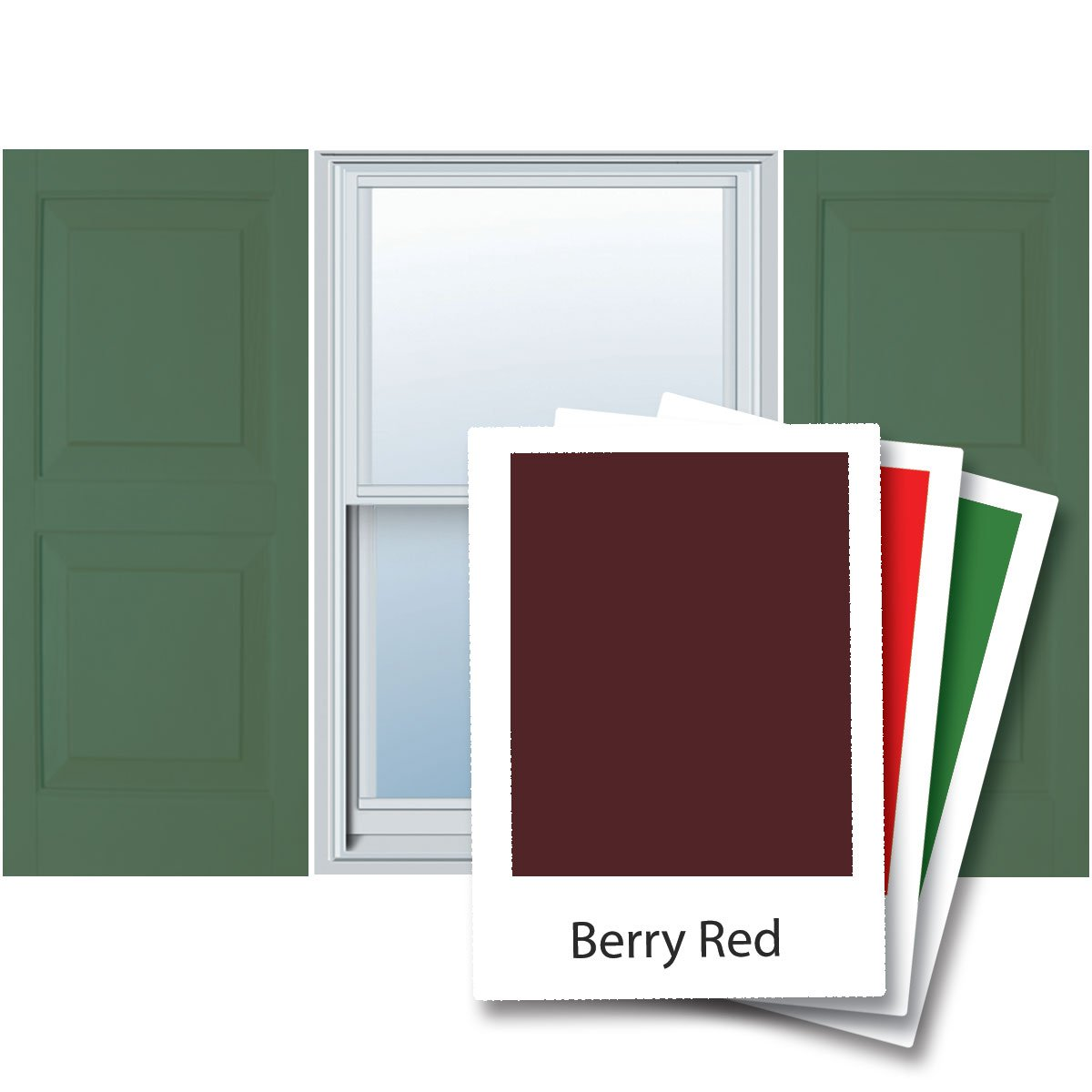 Alpha VNB1567BERP 15-Inch by 67-Inch Raised Panel, Berry, 2-Pack