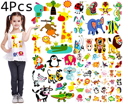 Baby Iron on Transfers Patches Set Kids Appliques Animal Patches for Clothes Girls T-Shirt Cute Cartoon Assorted Patterns DIY Iron on Stickers Clothes Decorations