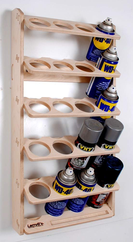 20 Can Aerosol Spray Can Holder and Lube Storage Rack