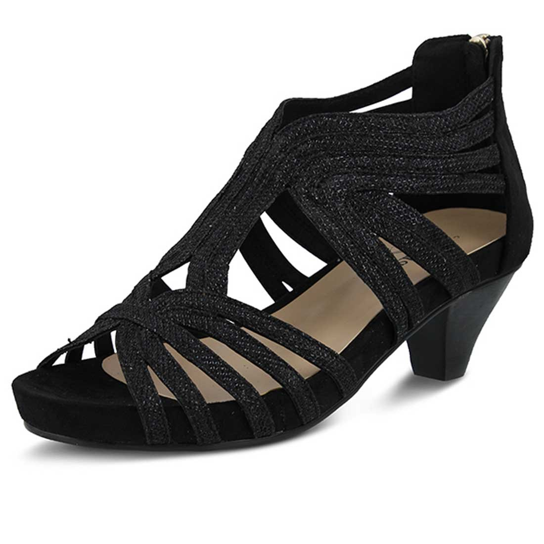 Azura Womens Esthetic Sandal B015RAPA52 38 M EU / 7.5-8 B(M) US|Black