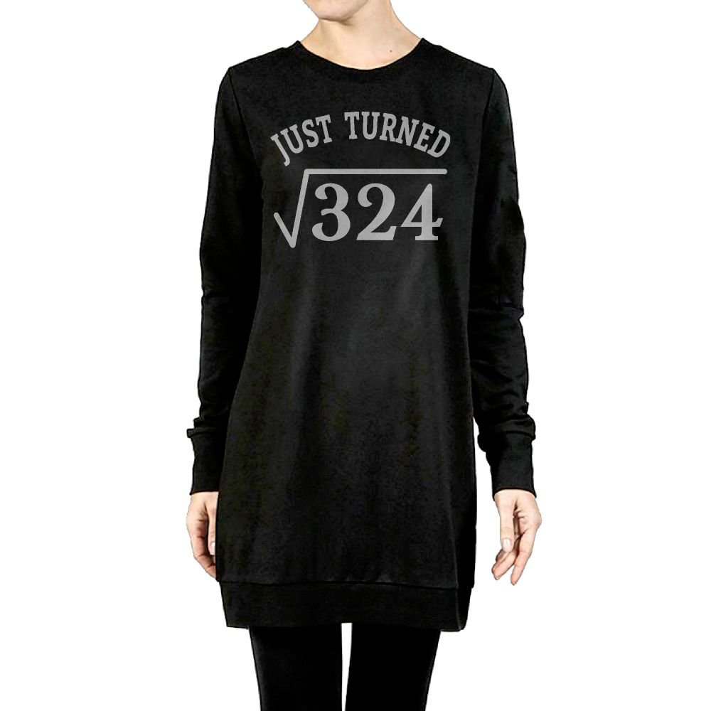 Beauty/&Fashions 18 Years Old Just Turn Square Root 324 Womens Cotton Fleeces Fashion Long-Sleeves Pullover surcoat