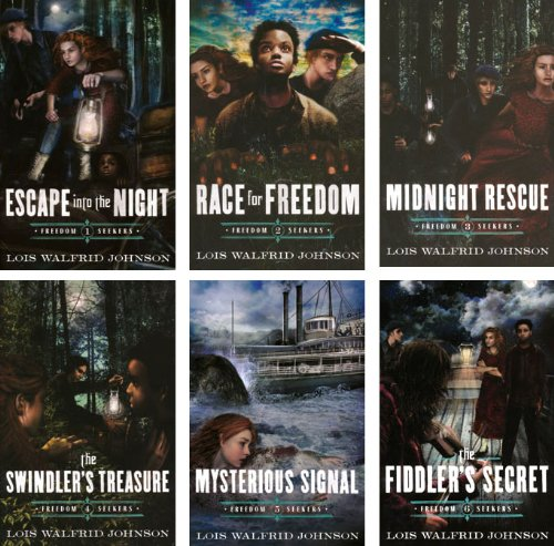 Freedom Seekers - Set of 6 Volumes Including Escape Into the Night, Race for Freedom, Midnight Rescue, the Swindler's Treasure, Mysterious Signal, and the Fiddler's Secret