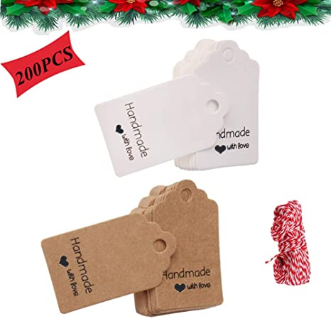 20 Pieces Crafts 2 Holes Handmade Tags For Brand Tag Decorative For Clothing