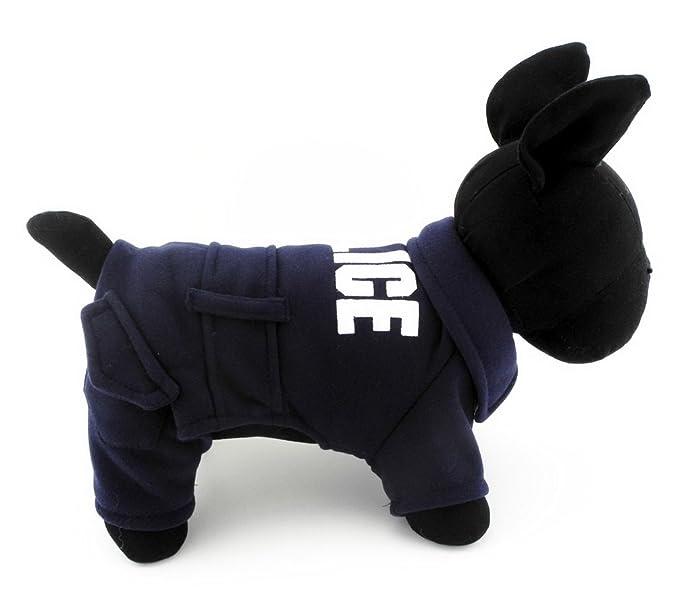 Ranphy - Ropa de invierno para perros y gatos, chaqueta de policía ...
