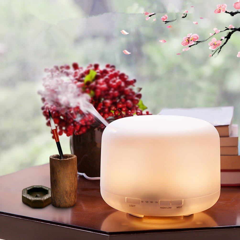 Aromatherapy Essential Oil Diffuser Cool Mist Humidifier Ultrasonic LED Light Changing Colors Perfect For Home,Office,Living Room,Spa,Car,Ledrgblight by L&X (Image #3)