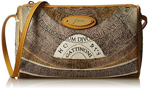 Gattinoni Gacpu0006047 Borsa A Tracolla Donna 6x15x25 Cm w X H L Beige deserto