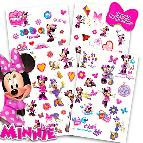 (Disney Minnie Mouse Tattoos - 50 Assorted Temporary Tattoos ~ Minnie Mouse, Daisy Duck, and)