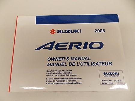 amazon com 05 2005 suzuki aerio owners manual book guide set w rh amazon com Used 2005 Suzuki Aerio S 2005 suzuki aerio owner's manual