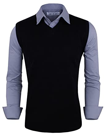Tom's Ware Mens Stylish Slim Fit Plain V Neck Sweater Vest ...