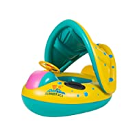 6-18 M Baby Inflatable Swimming Water Float with Adjustable Sunshade