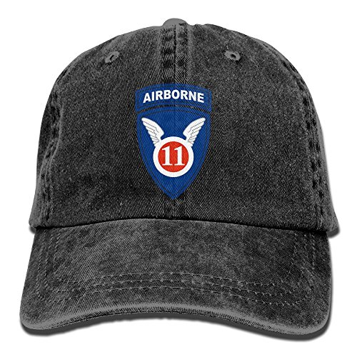Trableade Us Army 11th Airborne Division Logo Adult Sport Adjustable Structured Baseball Cowboy Hat 11th Airborne Division