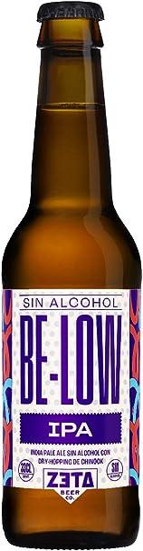 BeLow IPA SIN ALCOHOL 48x33cl. Pack de cervezas artesanas SIN ALCOHOL elaboradas por ZETA BEER y CERVEZAS MAJARA para Disfrutar de una Cerveza Sin Alcohol con Todo el Sabor y Aroma de las Mejores IPA