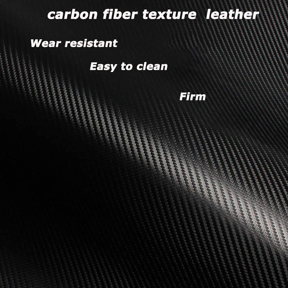 Carbon Fiber Texture Leather ZGYAQOO Car Door Sill Rear Bumper Guard Sticker for Subaru Outback Anti Scratch Protector Strips