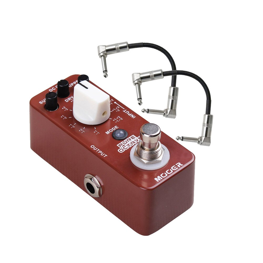 Mooer Pure Octave Guitar Pedal with Patch Cables by mooer