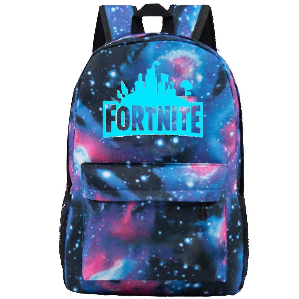 Fortnite Backpack Battle Royale School Bag Luminous School Bag Black