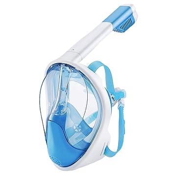 OMORC Mascara Buceo, Mascara Snorkel con 180°Visión Amplia, Silicona Suave, Anti