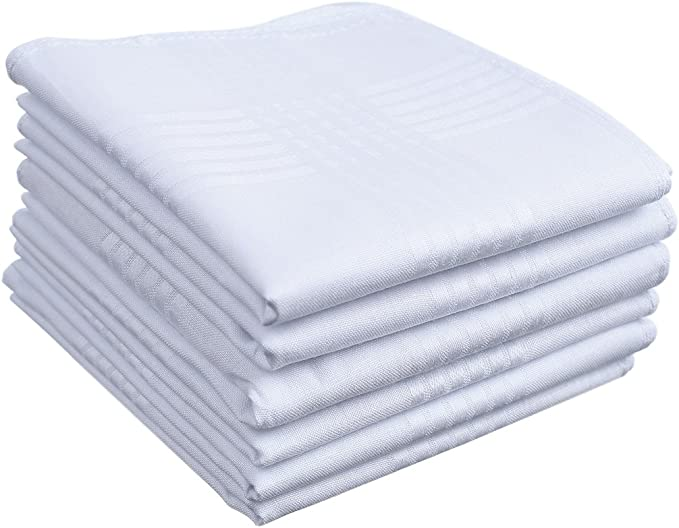 """12 or 6 MEN,s 100/%COTTON HANDKERCHIEFS HANKIES Quality Gift pack-size 15/""""x15/""""new"""