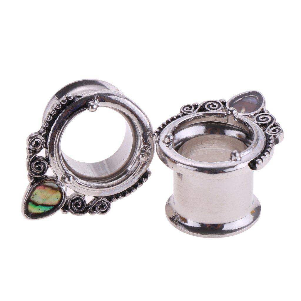 P Prettyia 2pcs Calibradores de Oído, Astas de Alce/Gota de Agua - como la Imagen, 10 mm: Amazon.es: Hogar