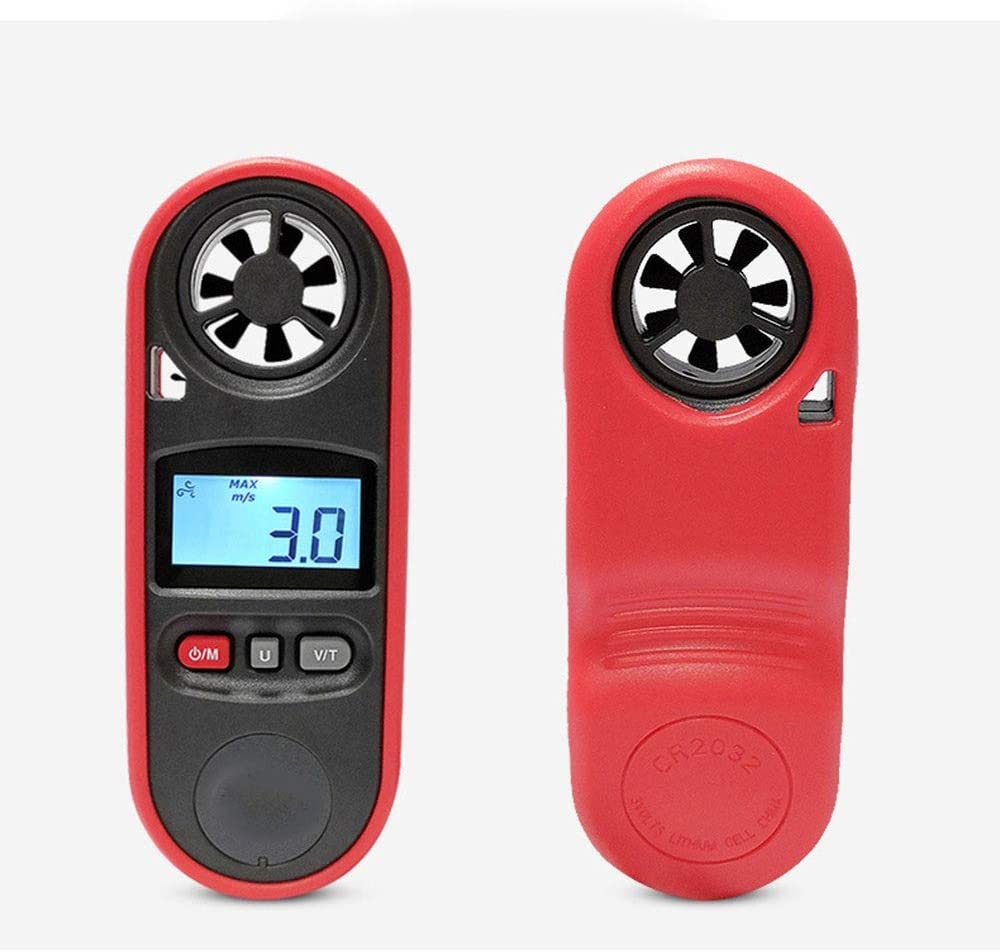 Hexiaoyi Anemometer Portable High-precision Wind Gauge Wind Speed Tester Anemometer Wind Temperature Wind Anemometer Color : As picture